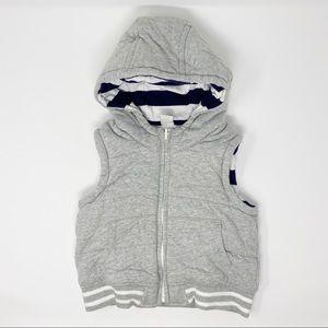 Gap Stripped Lined Hoodie Vest